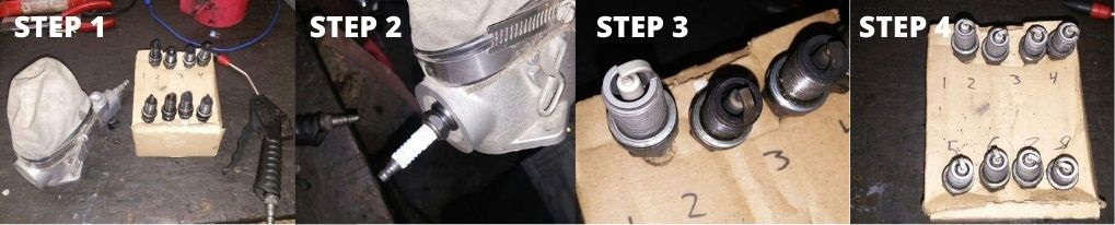 Cleaning Spark Plug with Air Compressor